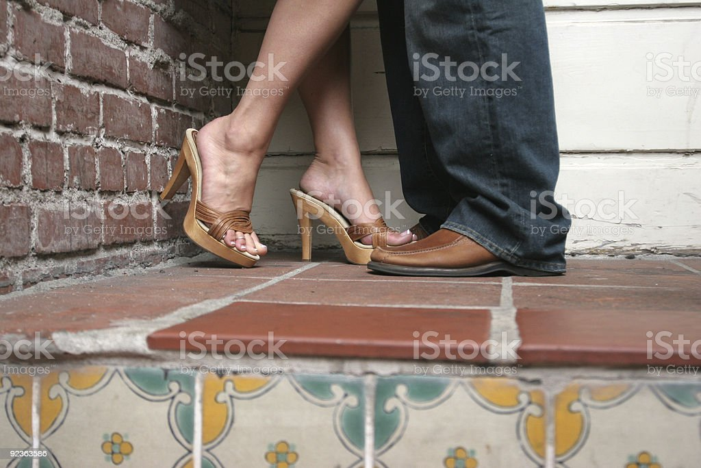 Sexy Lovers soles royalty-free stock photo