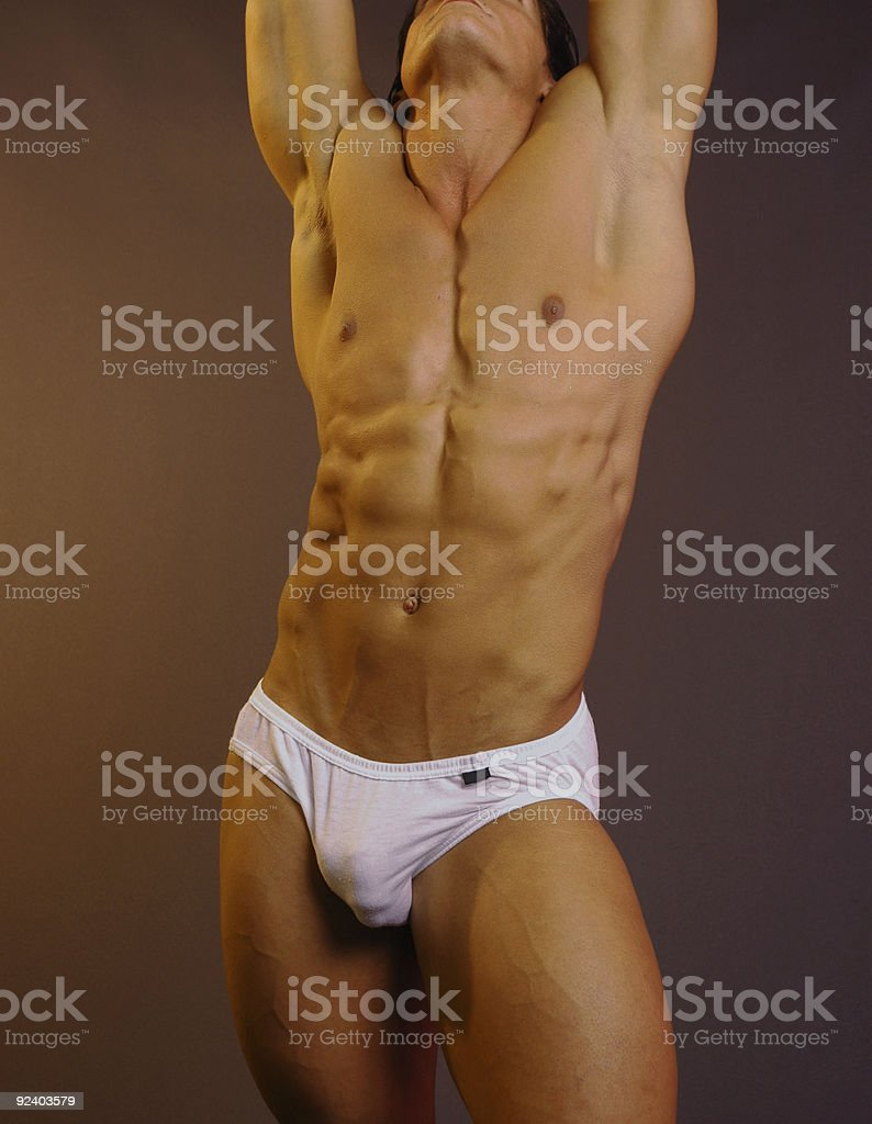 sexy male body stock photo