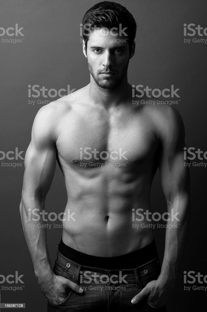 sexy male model stock photo