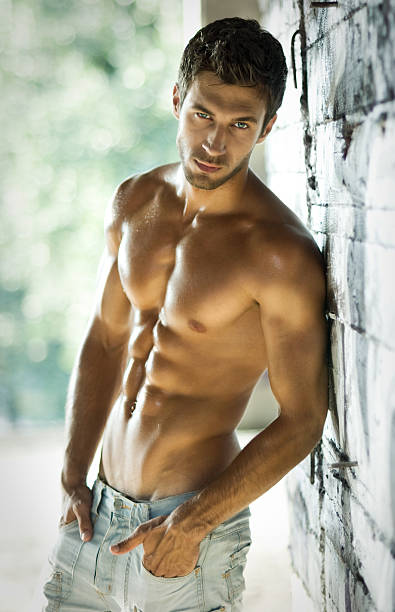 sexy male model - handsome people stock photos and pictures