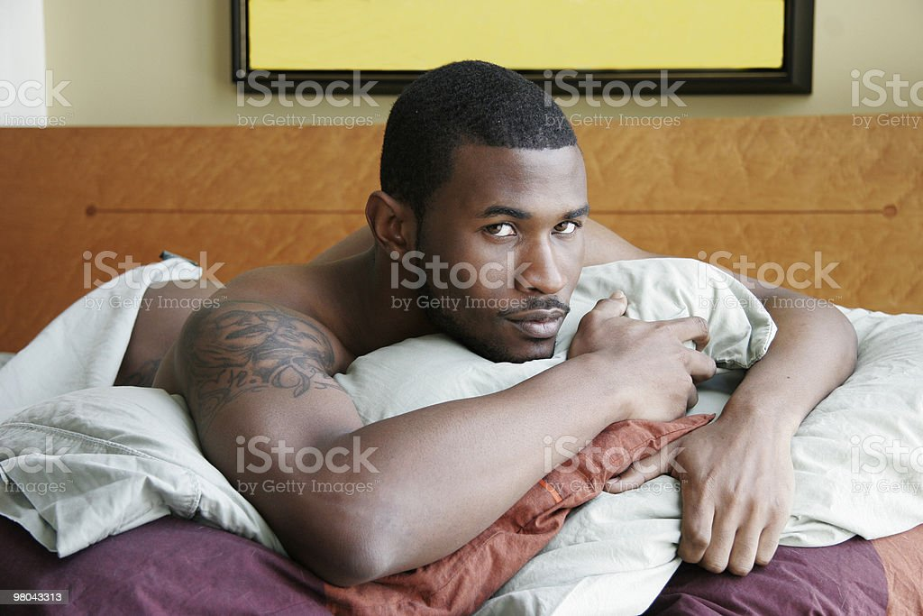 Sexy Man in Bed royalty-free stock photo