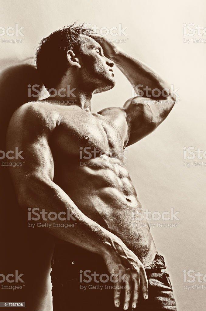 sexy man stock photo