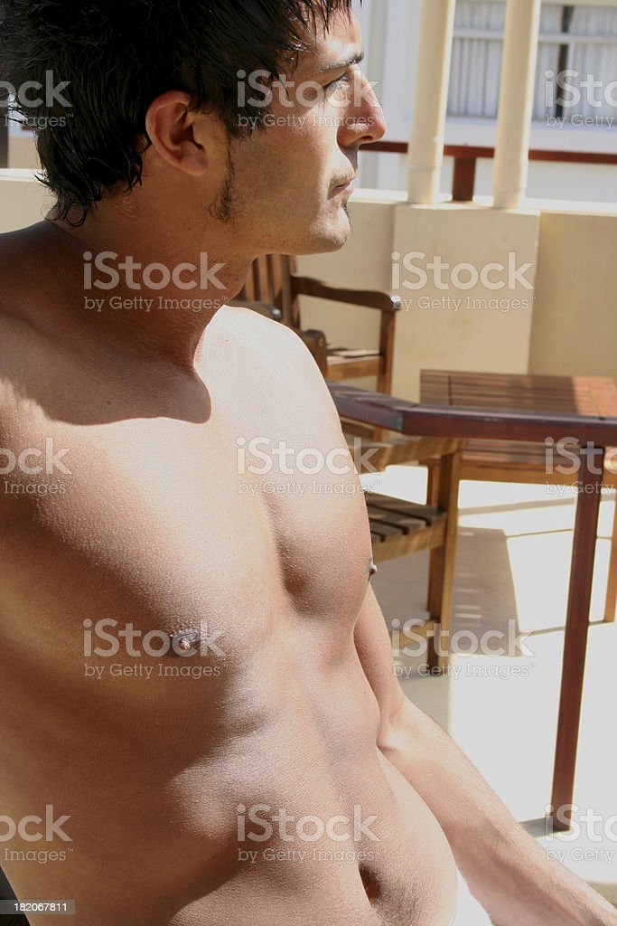 Sexy Man Sunbathing royalty-free stock photo