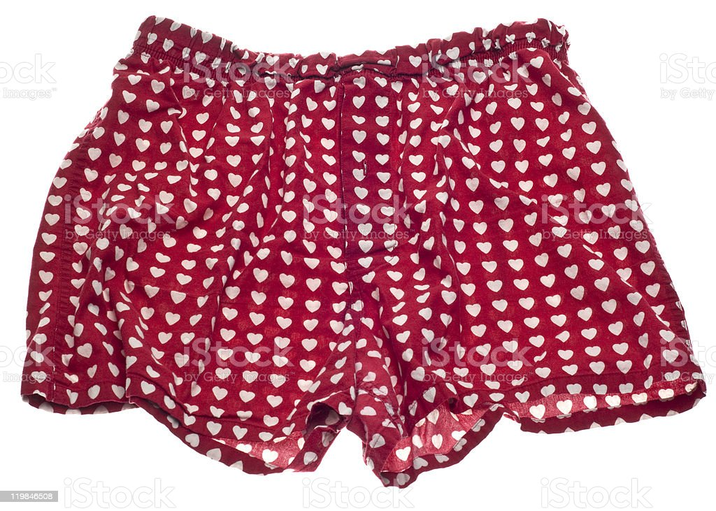Sexy Men Heart Boxer Shorts stock photo