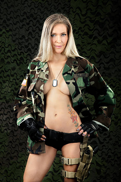 Naked Women With Guns Stock Photos, Pictures & Royalty