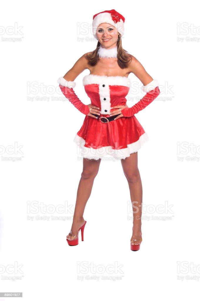 Sexy Mrs Claus stock photo