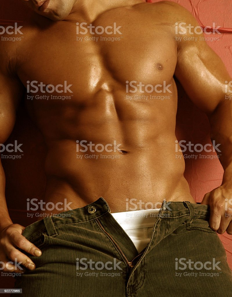 sexy  muscle male figure stock photo