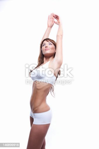 istock Sexy muscle woman's body 146899916