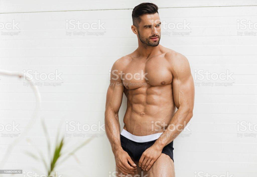 dcd2e096b1 Hombre Sexy En Ropa Interior Foto de stock y más banco de imágenes ...