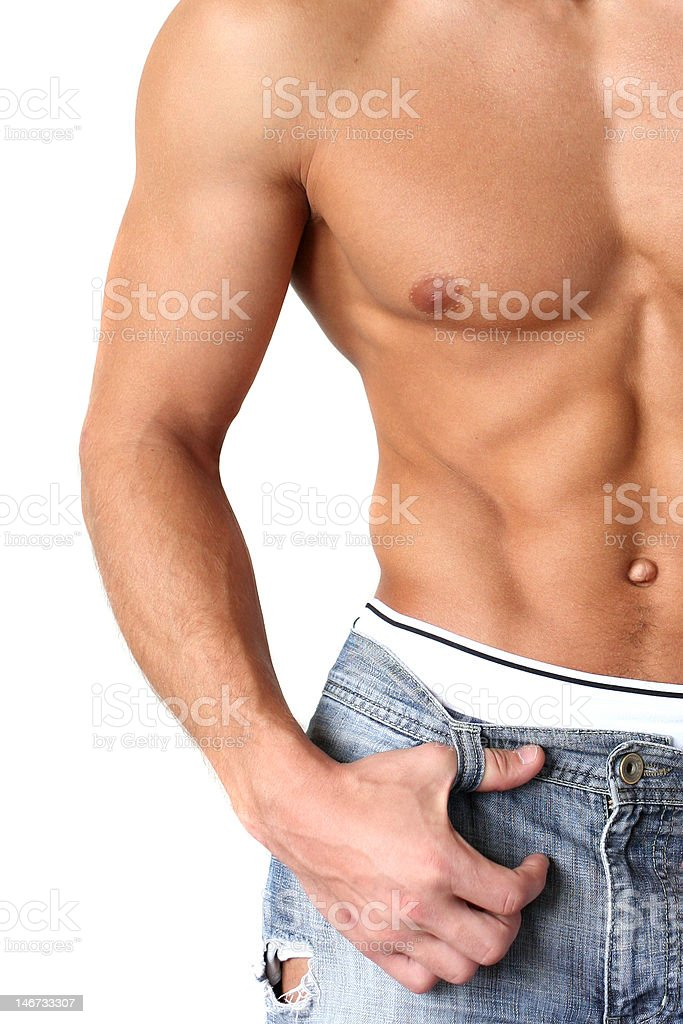 Sexy Muscular Torso royalty-free stock photo