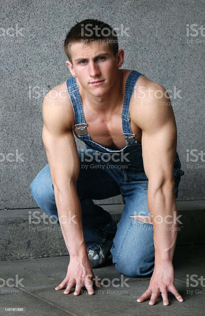 Sexy Muscular Worker royalty-free stock photo