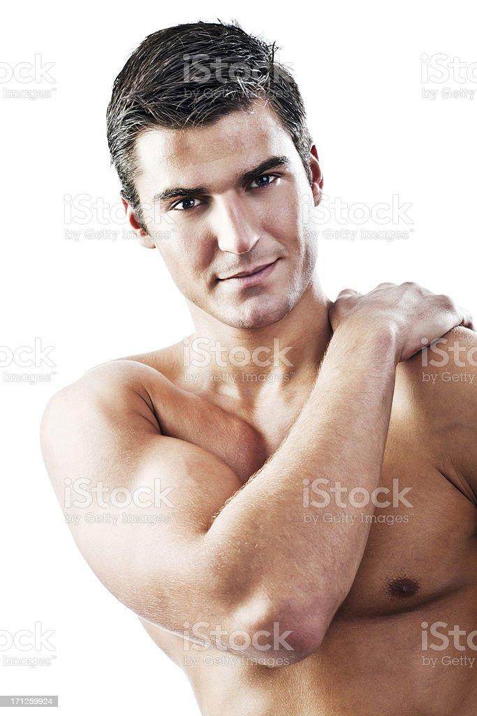 Muskel Sexy Nackter Mann. – Foto