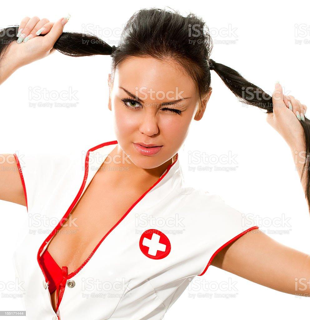 sexy nurse royalty-free stock photo