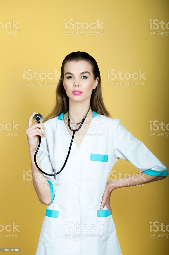 Sexy Nurse With Stethoscope Stock Photo & More Pictures of ...