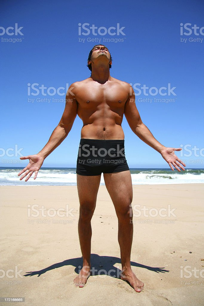 Sexy on the Beach royalty-free stock photo