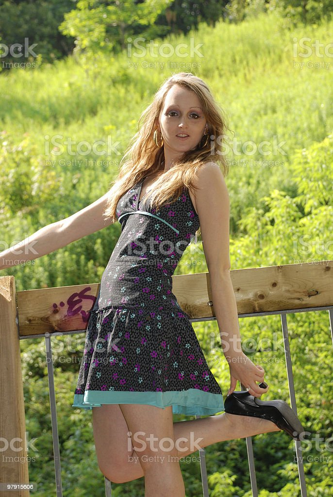 Sexy outside royalty-free stock photo
