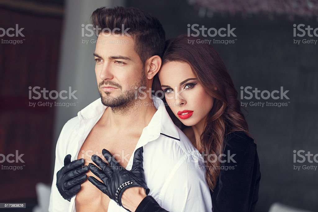 Sexy Passionate Couple Foreplay At Home Royalty Free Stock Photo