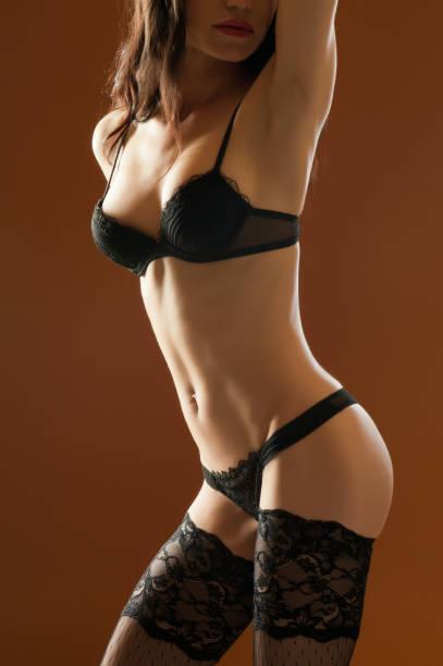 sexy photomodel - black string photos et images de collection