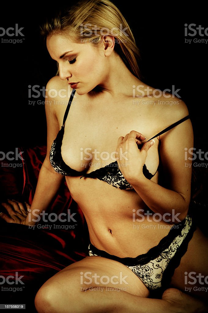 9625a4d04 Sexy Pin Up Model In Lingerie Stock Photo   More Pictures of 20-29 ...