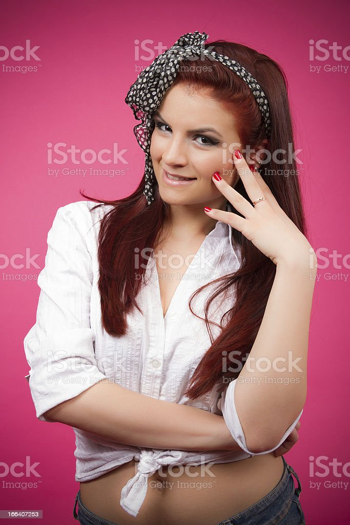 Sexy pin-up girl royalty-free stock photo