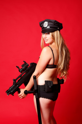Sexy Police Officer Stock Photo - Download Image Now