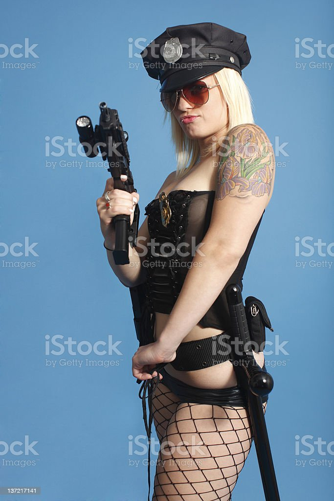 Sexy police officer royalty-free stock photo