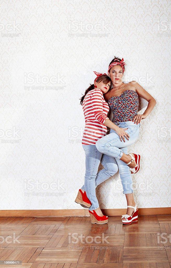 sexy pose für Frauen Paar – Foto