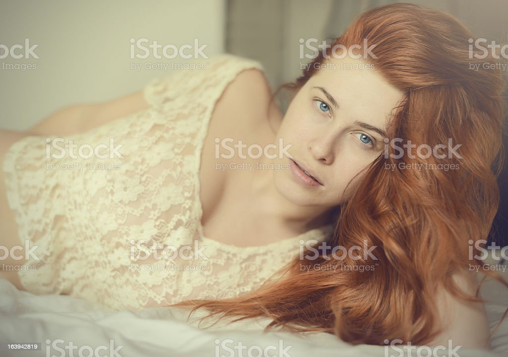 sexy red hair woman royalty-free stock photo