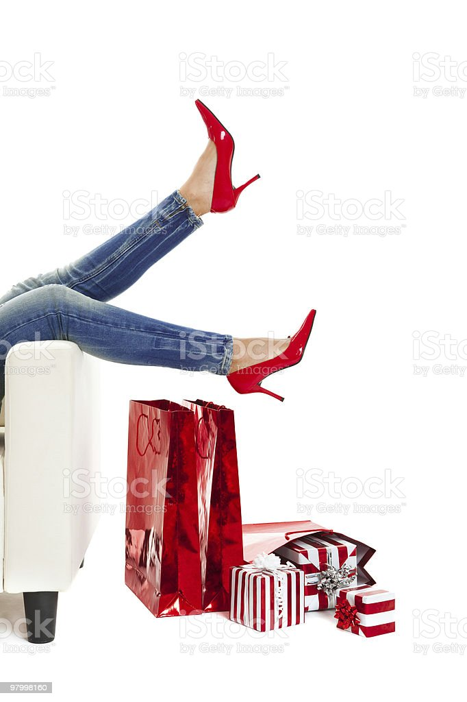 Sexy Red Shoes royalty-free stock photo