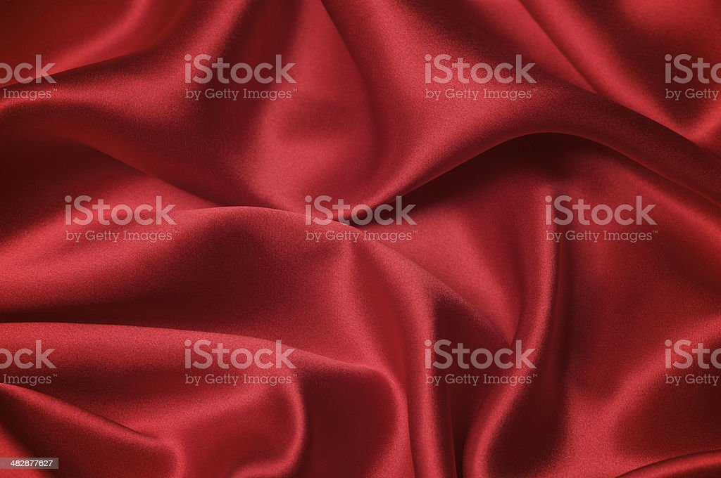 Sexy Red Silk Sheets Romantic Valentines Day Background stock photo
