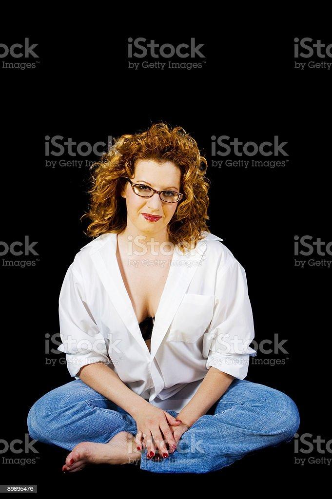 Sexy roten Kopf Lizenzfreies stock-foto