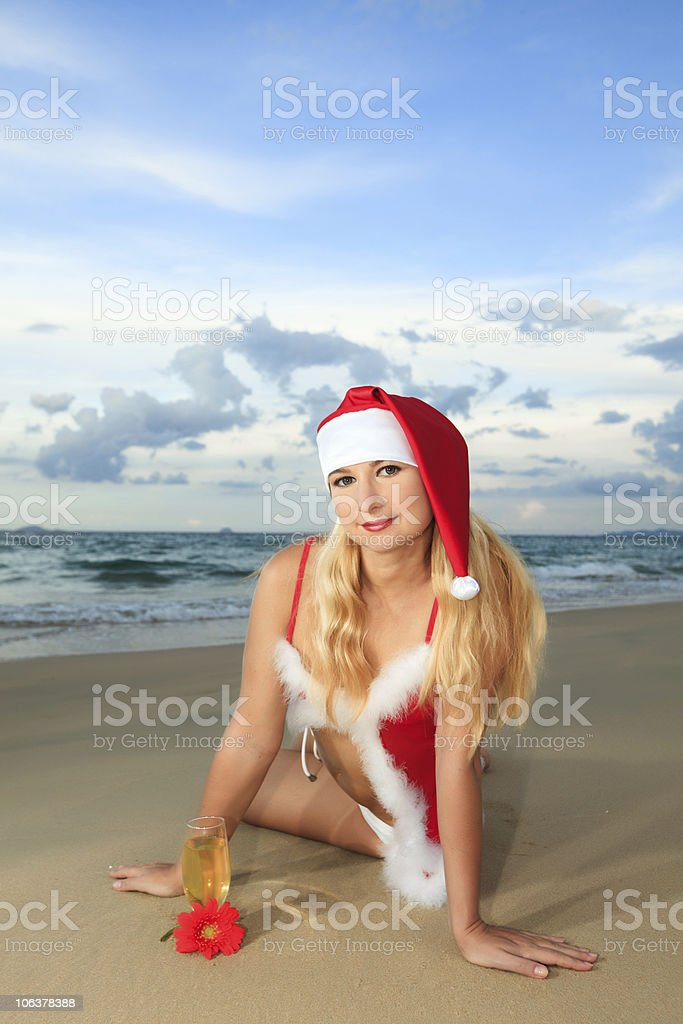 Sexy Santa royalty-free stock photo