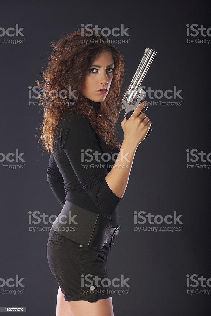 sexy secret agent royalty-free stock photo