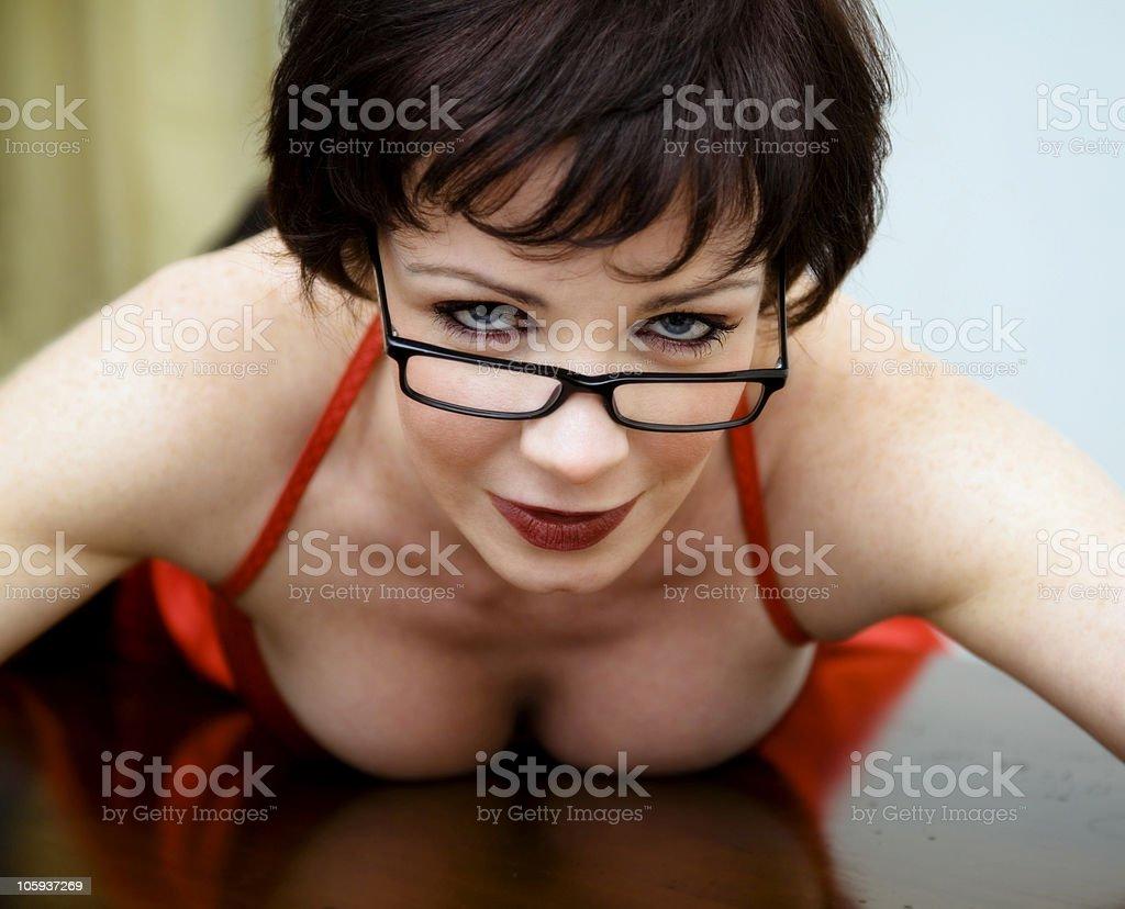 sexy secretary royalty-free stock photo