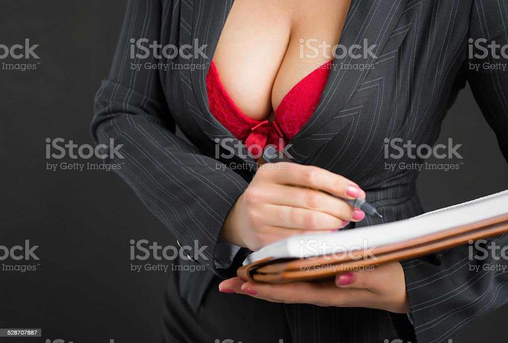 Sexy secretary stock photo