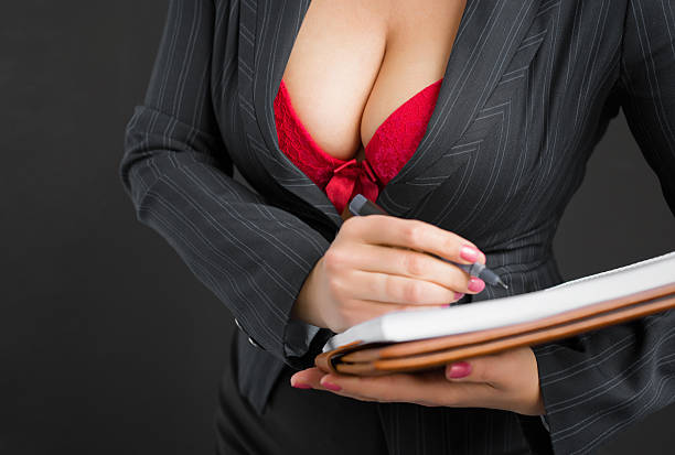 Sexy secretary stock photo