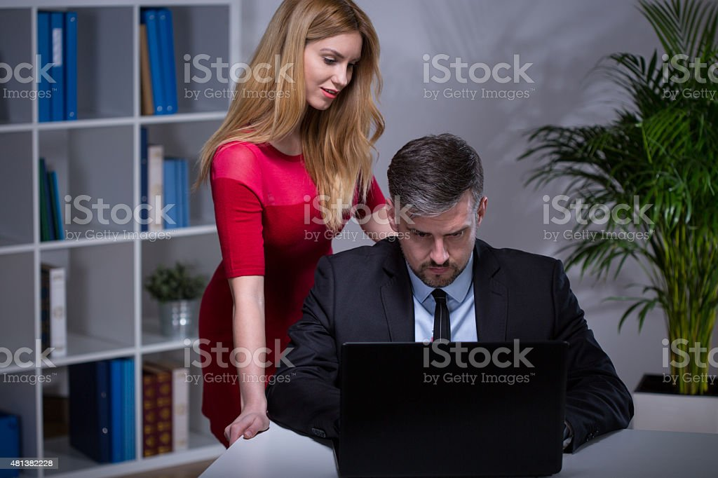 Sexy Secretary Seducing Her Boss Stock Photo - Download -5793