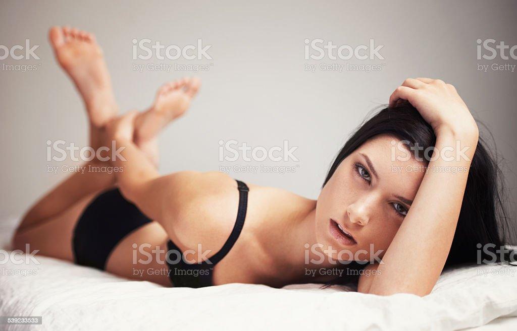 Sexy seductress royalty-free stock photo