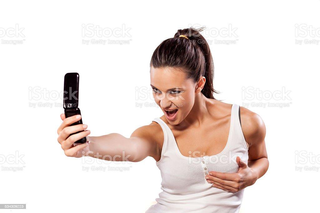 Sexy selfie stock photo