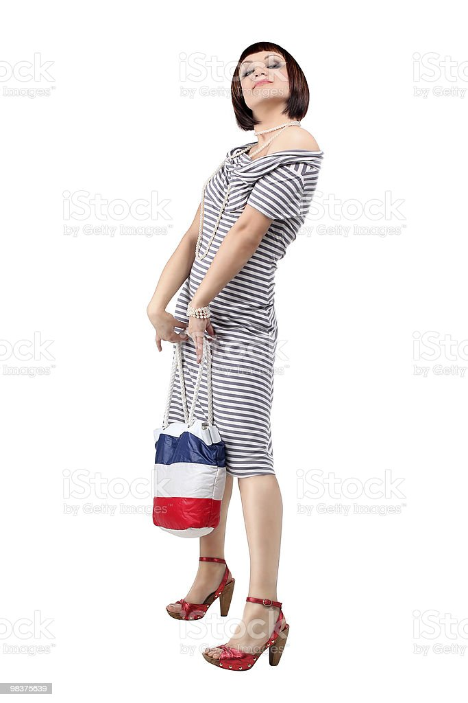 Sexy shopping woman with bag royalty-free stock photo