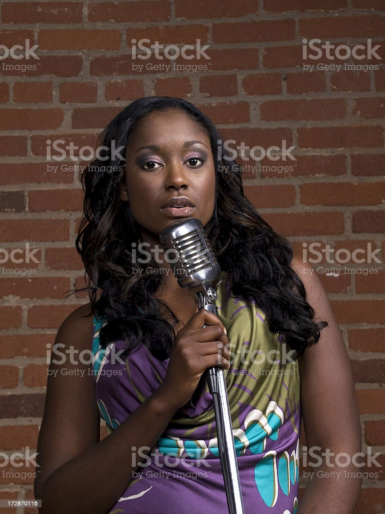 Sexy Singer royalty-free stock photo