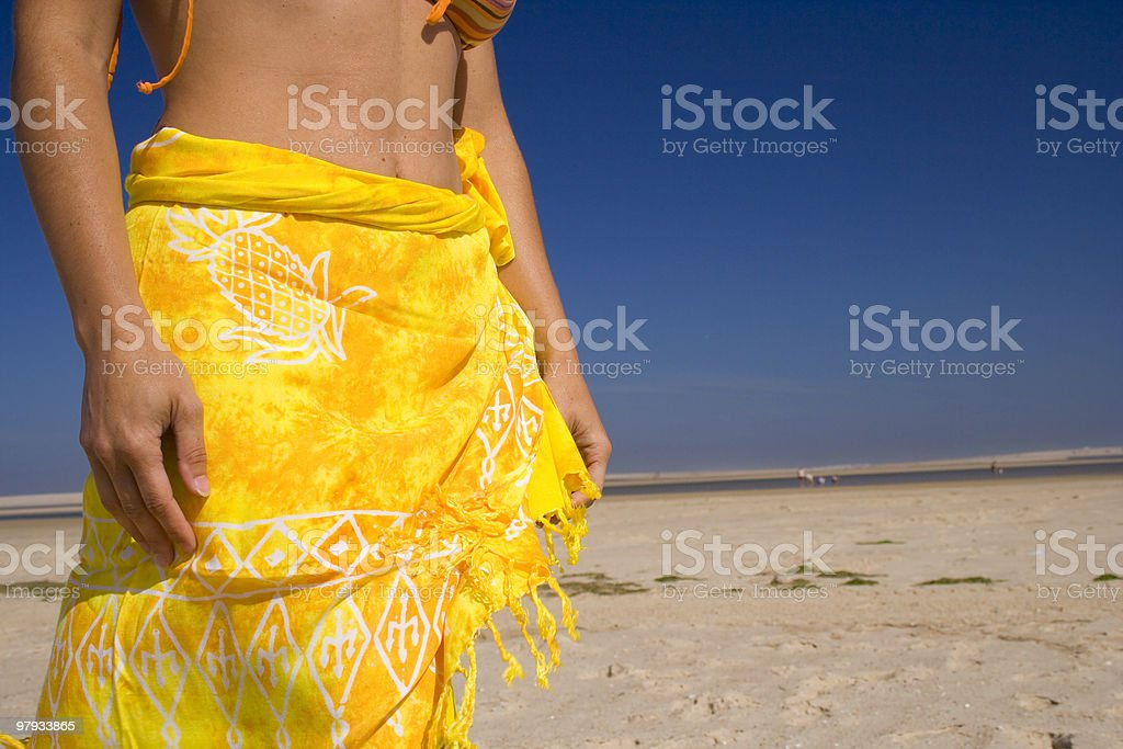 Sexy skirt at the beach royalty-free stock photo