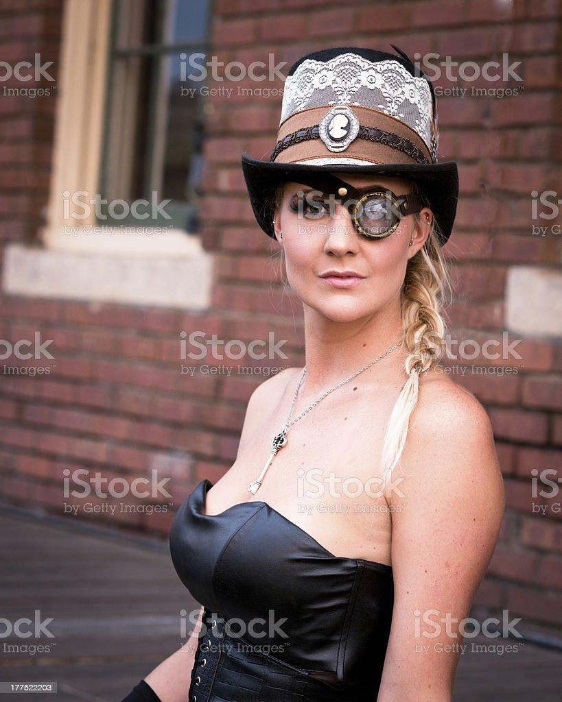 Sexy SteamPunk Girl royalty-free stock photo