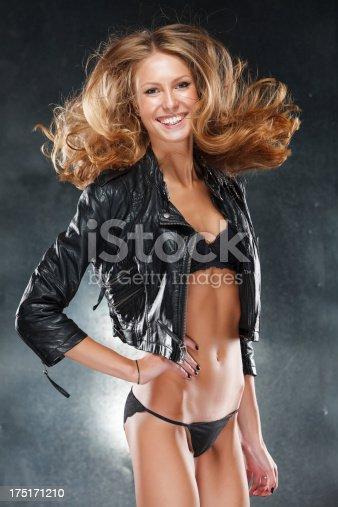 istock Sexy stylish blonde woman 175171210