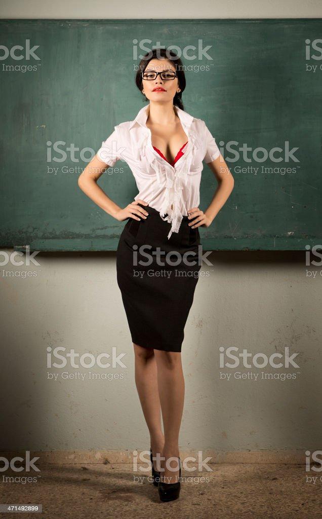 Sexy Teacher Stock Photo