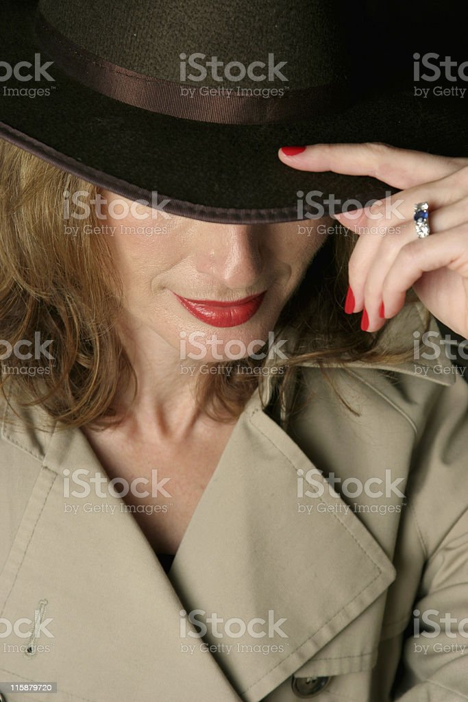 Sexy Trenchcoat Woman royalty-free stock photo