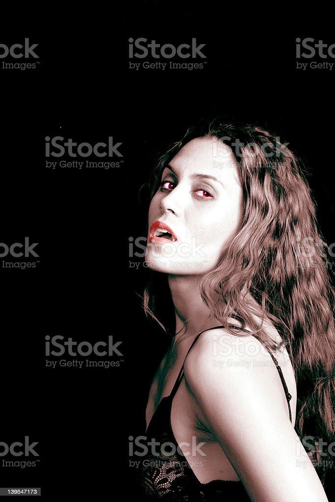 Sexy vampire #1 royalty-free stock photo