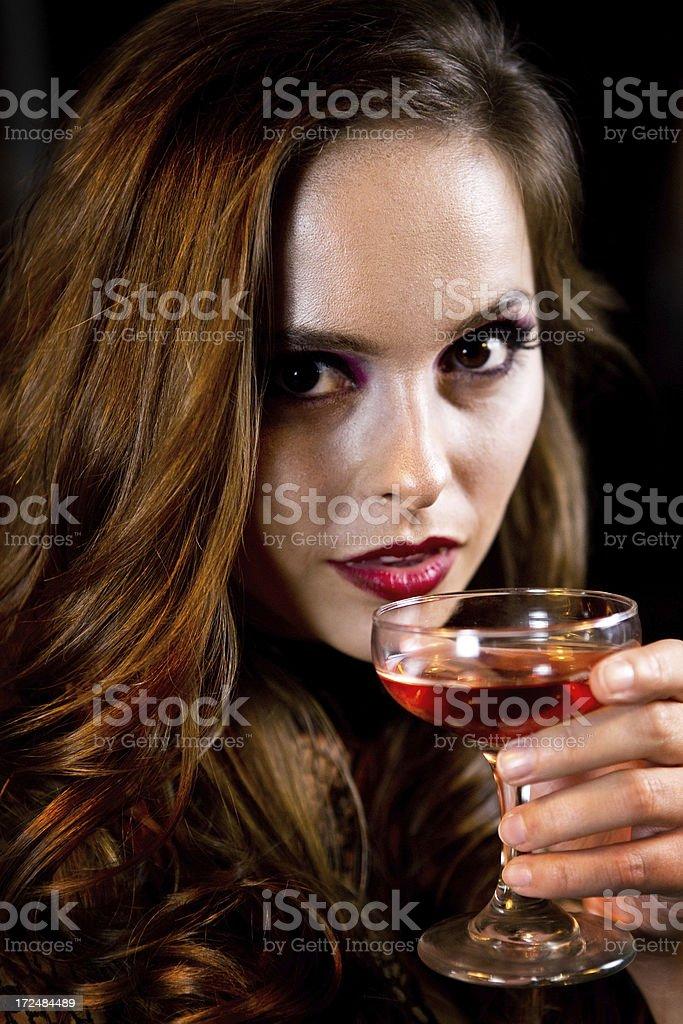 Sexy Vampire Woman royalty-free stock photo