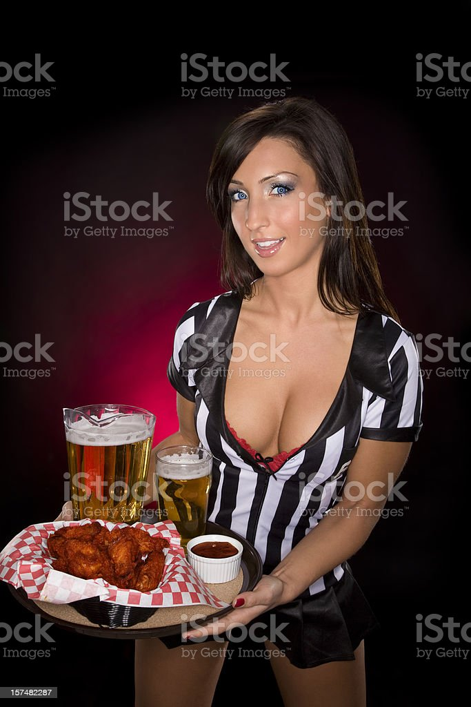 Sexy Waitress stock photo