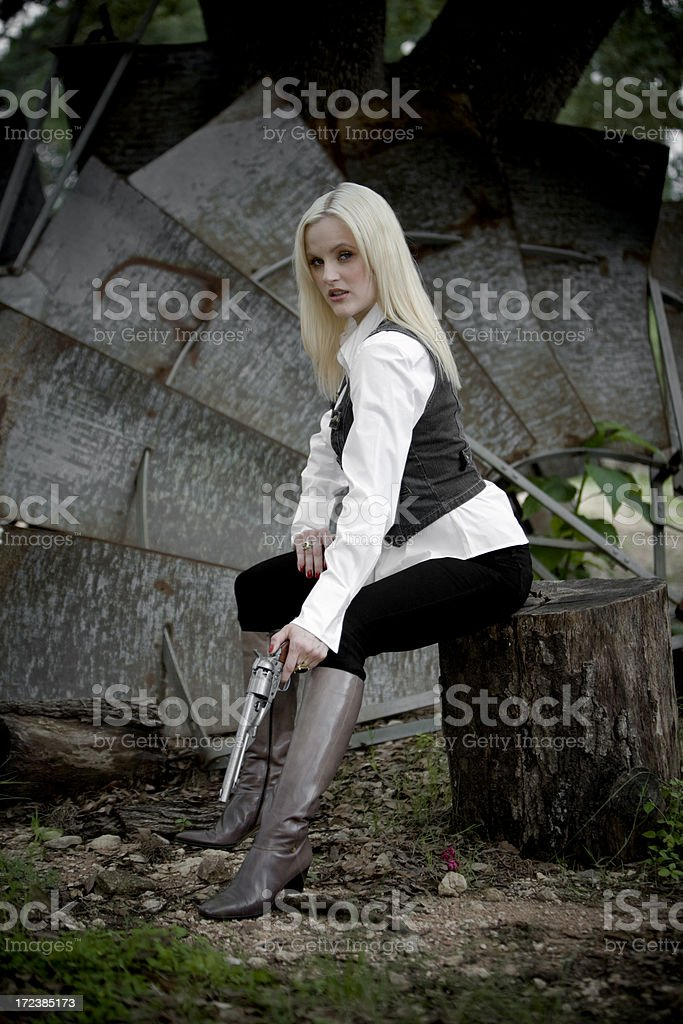 Sexy western girl royalty-free stock photo